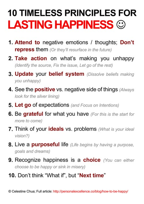 Principles for lasting happiness